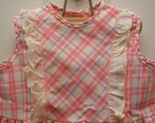 vintage girl's pink plaid dress.