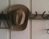Reclaimed Barn Wood and Horseshoe Coat Rack Hat Rack Organizer