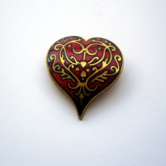 Old School Classic Heart Pin