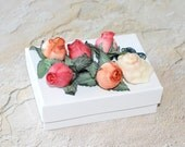 OOAK Jewelry Gift Box Shell Rose