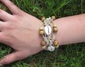 Wooden Shell Beaded Macrame Hemp Bracelet