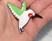 SALE Vintage Hummingbird Enameled Brooch