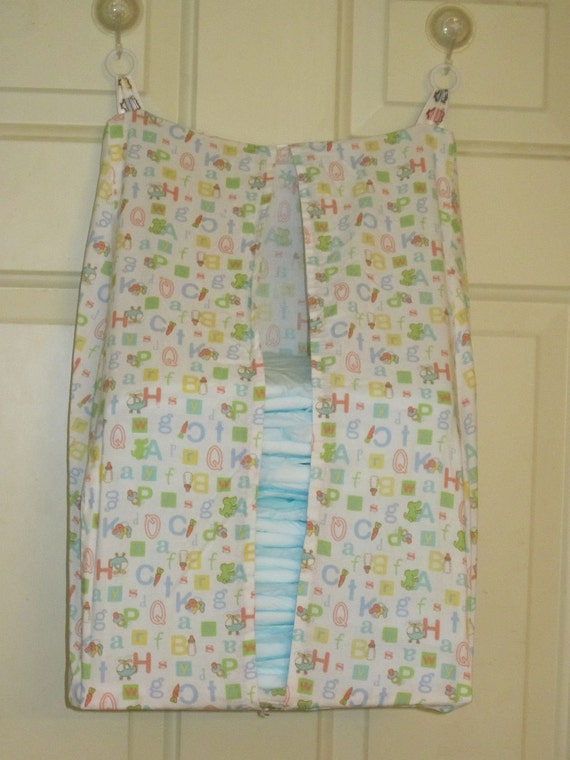 Adult Baby Diaper Stacker with the Alphabet