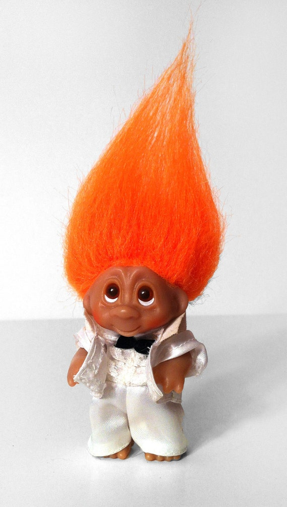 1985 Original Dam Norfin Troll Doll White Tux Groom Usher