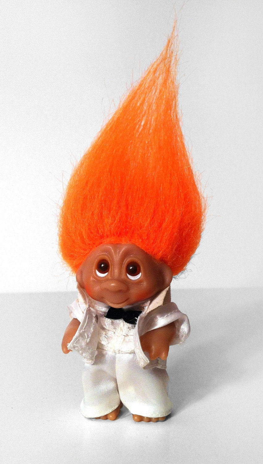 1985 Original Dam Norfin Troll Doll White Tux Groom Usher