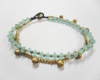 Chain Glass Bead Anklet