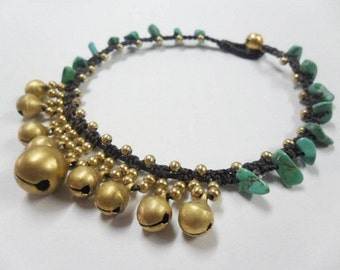 Jingling Turquoise Anklet