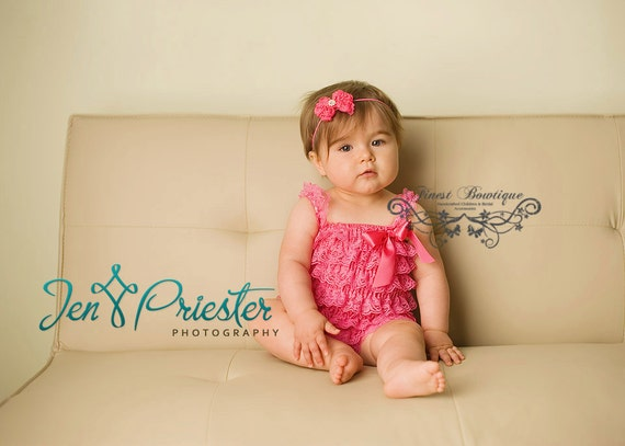 Pick Your Color - CHIFFON ROSETTE with RHINESTONE Accent - Newborn Baby Toddler Girl Baby Headband
