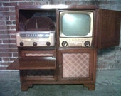 Rare Mid-Century 1951 Admiral Television  / Phongraph / Radio Combo - Vintage Home Theatre *SHIPPING NOT INCLUDED*