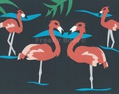 """Pink Flamingo Family Print - Limited Edition 01/50 - 5""""x7"""" archival print by the Freaky Boat"""