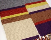 Season 12 Doctor Who Hand Knit Replica Scarf 100% Acrylic Fourth Doctor Tom Baker from Ashlee's Knits