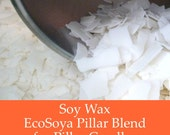 10 lbs. Soy Wax Flakes - Ecosoya PillarBlend - Premium All Natural Soy Wax for Candle Making