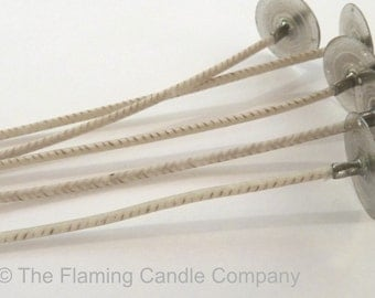 HTP Wicks (25) - Pre-tabbed Candle Wicks - Choose Your Size