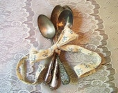 Tarnished Mix-Matched Silver Toned Spoons