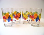 Vintage Colorful Tropical Fruit Juice Glasses or Tumblers - Firna Indonesia