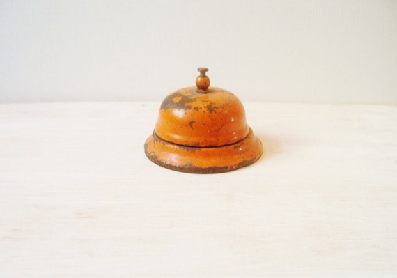 Rustic Orange Desk Bell