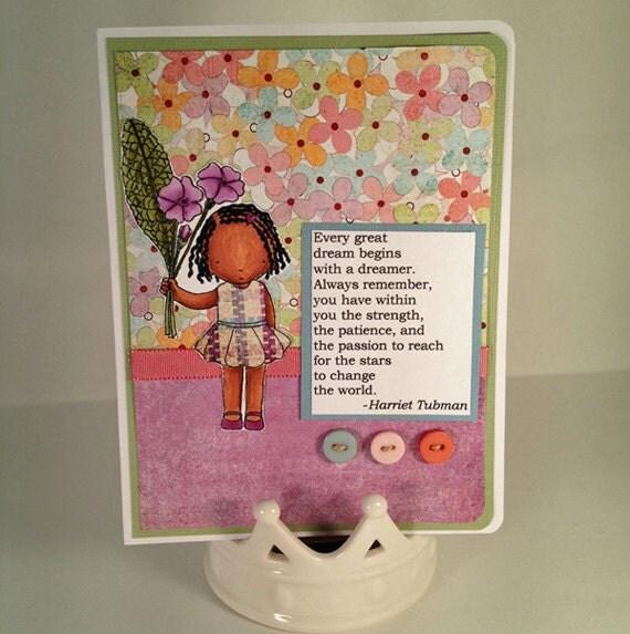 Dreams by Harriet Tubman handmade greeting card
