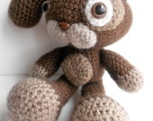 RESERVED LISTING for Celeste- Amigurimi Brown Bunny
