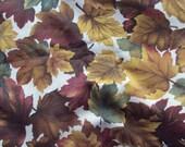 "Cotton Autumn Leaf Print Fabric By Cranston 1 yard 45"""