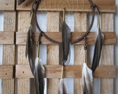 Dream Catcher Choclotate Brown with Duck Pointer Feathers