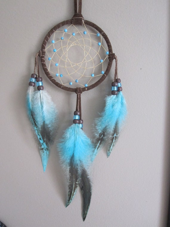 Dream Catcher, Chocolate Brown with Rooster Saddle Feather