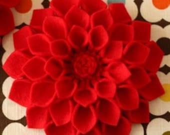 Fabric Dahlia Flower PDF Pattern Tutorial