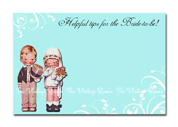 Items similar to INSTANT DOWNLOAD, Printable Bridal Shower Advice ...
