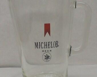 Vintage 1970s era Michelob Glass Bar Pitcher