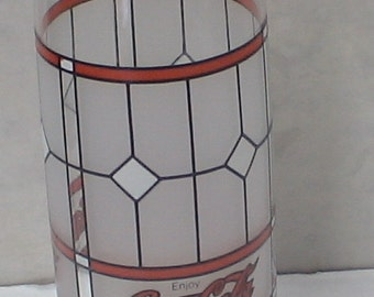 Vintage Coke Coca Cola Frosted Drinking Glass