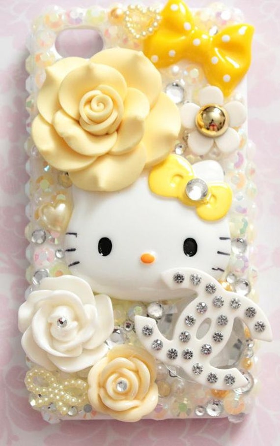 Yellow Hello Kitty Decoden Iphone 4/4S Case - READY-to-SHIP