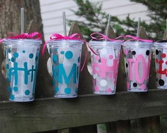 Personalized Acrylic Cup with Straw