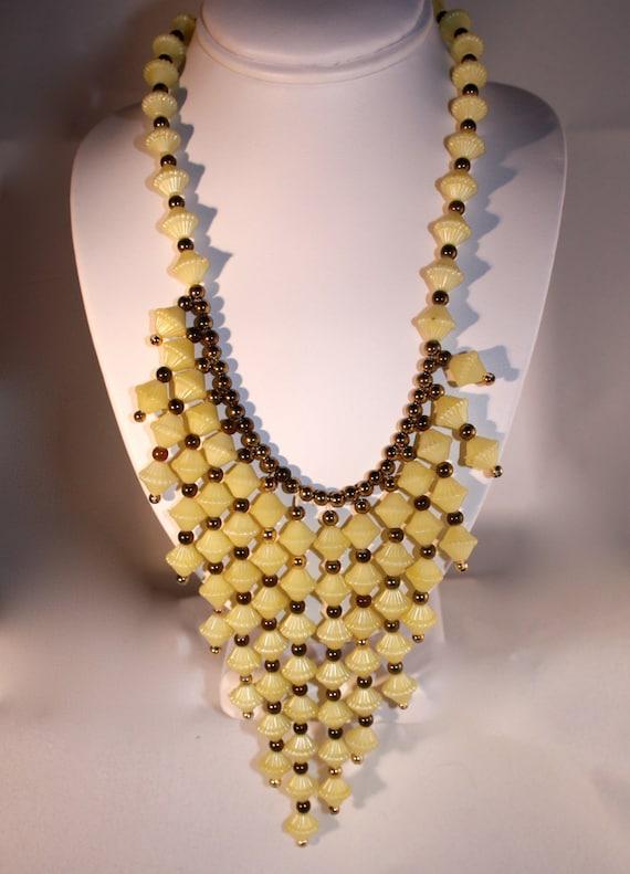 Necklace Art Deco style 1950 -1960 Vintage beads