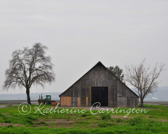 Barn & Tractor - 8x10 Color Print Architecture Fine Art Photography - Other Sizes Avalable