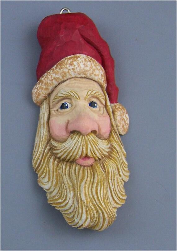 One of a kind Santa Ornament