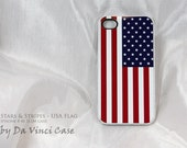 American Flag iPhone 4 case - iphone 4s case - Stars and Stripes - US Flag iPhone SLIM case - USA