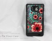 """Samsung Galaxy S II Case - paisley & floral art - SLIM case featuring """" Paisley Paradise """" - case for Droid Galaxy S 2 - Samsung i9100"""