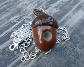 Peter Pan Acorn Kiss Necklace Polymer Clay