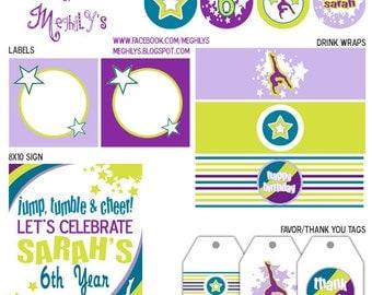 American Girl McKenna / Gymnastics Party / DIY Printables