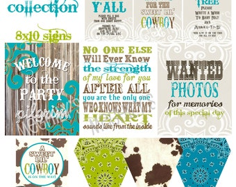 Sweet Lil Cowboy Baby Shower DIY Printables - Instant Download