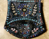 Beautiful Colorful Hand Stitched and Beaded Embroidered Messenger Bag