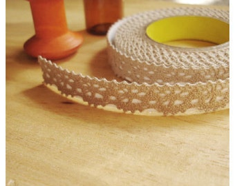 Adhesive Deco fabric lace rolltape - brown