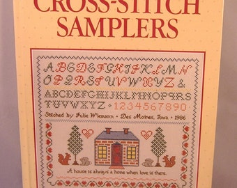 BOOK SALE - Vintage Better Homes & Gardens Cross-Stitch Samplers - Hardcover - 1986