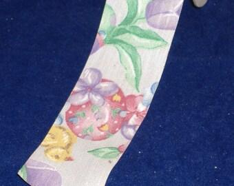Egg-ceptional Fabric Ribbon - BTY - Spring, Easter - Destash