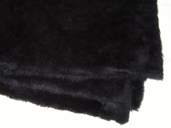 Fabulous Black Fake Fur - 2 yards x 24 inches - DESTASH