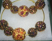 Basketball wives earrings acrylic pave pierced 3 inch hoops