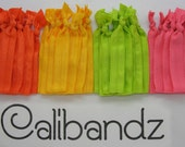 Burst - 4 Calibandz - shimmer, hair ties, twist, emi, bella, foe, elastic, jays