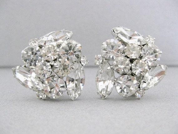 vintage 1950s clip earrings. BRIGHT LIGHTS.