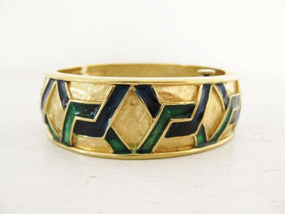 vintage Pedre 1980s clamper bracelet hidden watch. THE PERFECT COMBINATION.