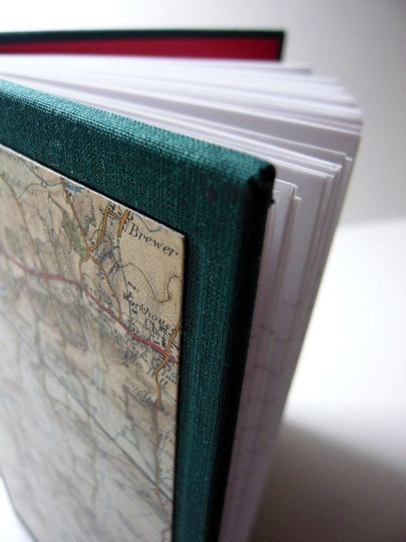 Vintage Map notebook/travel diary
