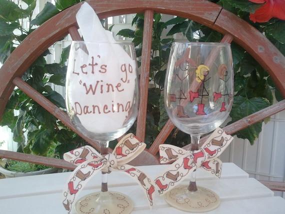 "Lets go ""wine"" dancing wine glasses"
